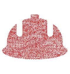 Construction helmet fabric textured icon vector