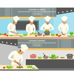 Cook profession banners set vector