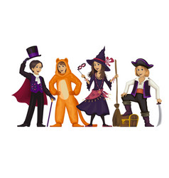 Costume partykids in carnaval costume vector