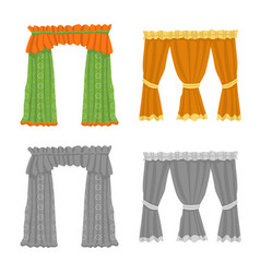 Curtains and drapes sign vector