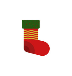 decoration sock color icon element of christmas vector image