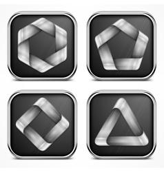 Design elements on dark vector image