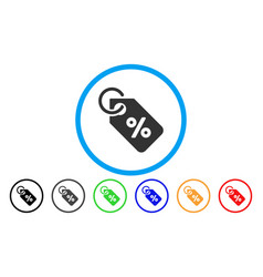discount tag rounded icon vector image