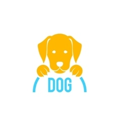 Dog sign and logo for veterinary clinic vector image