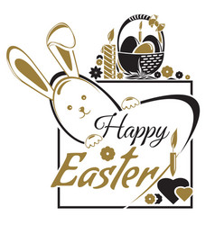 Easter greetings happy easter typographic design vector
