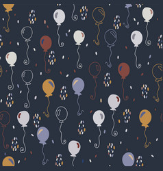 elegant party balloons pattern vector image