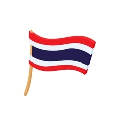 Flag of Thailand icon cartoon style vector