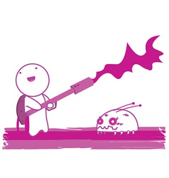 Flamethrower cartoon vector