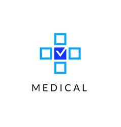 flat line medicine icon monochrome emblem logo vector image