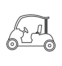 golf cart vehicle equipment vector image