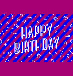 happy birthday greeting card banner poster and vector image