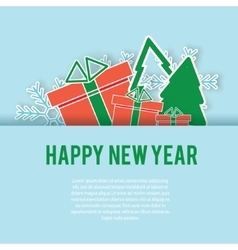 Happy New Year greeting card background vector