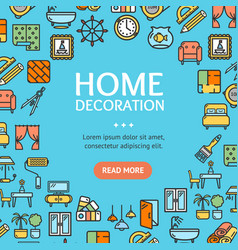 home decor signs round design template line icon vector image