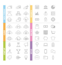 Infographics template icons vector