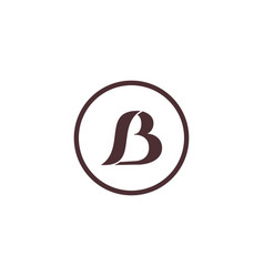 initial letter s b logo template vector image