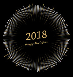 inscription happy new year 2018 with firework vector image