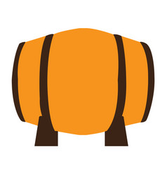 isolated beer barrel vector image