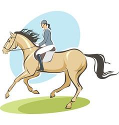 Jockey on a horse vector