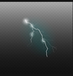 lightning or thunderbolt 3d realistic vector image