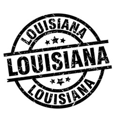 louisiana black round grunge stamp vector image