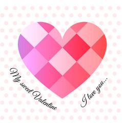love pattern 1 vector image