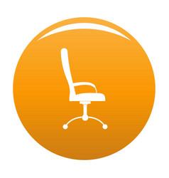 Massage chair icon orange vector