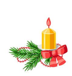 merry christmas decorative element vector image