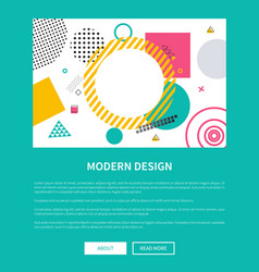 modern design blue page on vector image