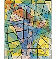 Mosaic hand vector
