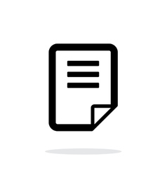 Notepad page flip icon on white background vector