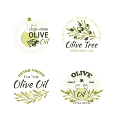 Olive Emblems Set vector