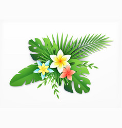 paper tropical blossom composition vector image