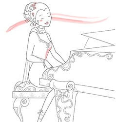Piano player vector image