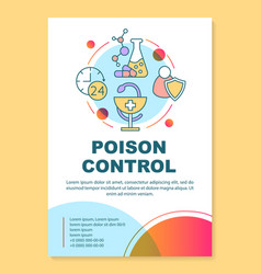 Poison safety poster template layout toxin vector