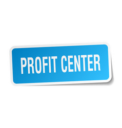 Profit center square sticker on white vector
