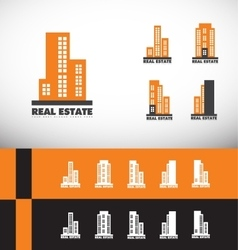 Real estate building skyscraper logo vector