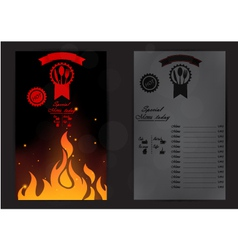 Restaurant menu with a price list vector
