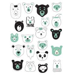 Set of bears vector