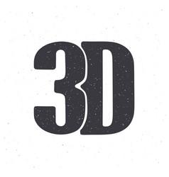 silhouette abbreviation 3d vector image