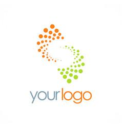 spin letter s technology logo vector image