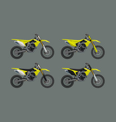 sport motorcycle moto technic drawing icon vector image