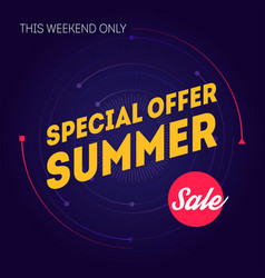 summer sale banner template special offer this vector image