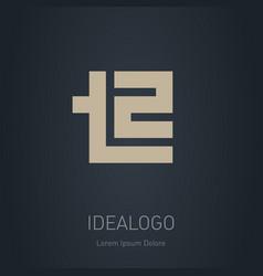 t2 - design element or icon initial monogram vector image