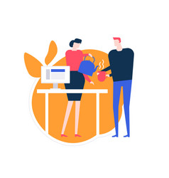 taking a break - flat design style colorful vector image