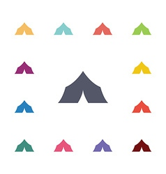 tent flat icons set vector image