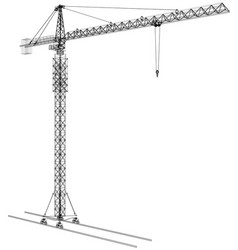 Tower construction crane rendering of 3d vector