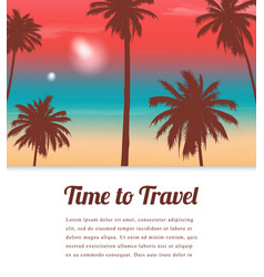 travel background with exotic landscape vector image