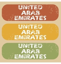 Vintage United Arab Emirates stamps vector image