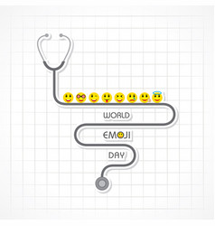 World emoji day greeting - 17 july vector