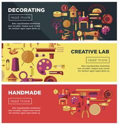 Creative art workshop or diy handicraft laboratory vector